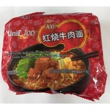 統一100紅燒牛肉麵(5包裝)