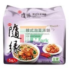 味丹隨緣韓式泡菜素袋麵(5包裝)